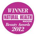 Natural Health Magazine Winner Best Organic Range 2012