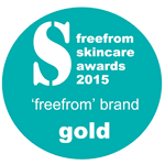 FreeFrom Skincare Awards 2015 - Gold Award