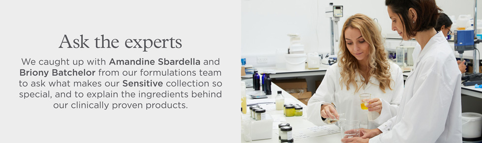 Picture of our formulations team members, Amandine Sbardella and Briony Batchelor in the lab