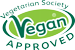 Vegetarian Society Vegan approved – our vegan products are approved by the Vegetarian Society.