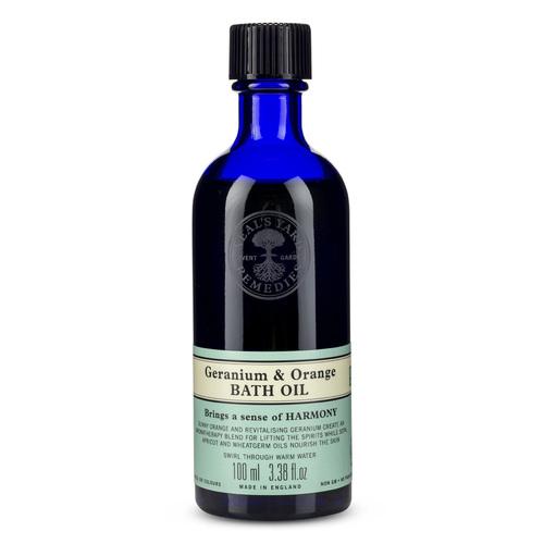 Geranium & Orange Bath Oil 100ml, Neal's Yard Remedies
