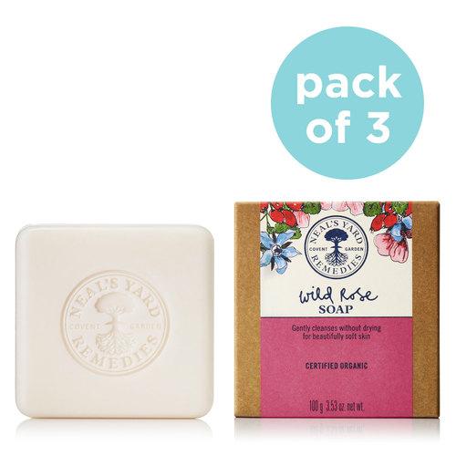 Soap Trio Wild Rose, Neal's Yard Remedies