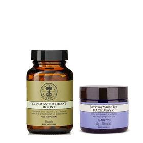 White Tea Face Mask & Super Antioxidant Boost 60 Caps