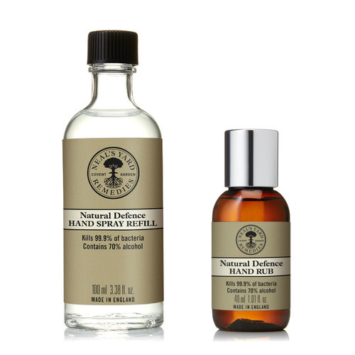 Hand Defence Duo -  Hand Rub 40ml & 100ml Refill, Neal's Yard Remedies