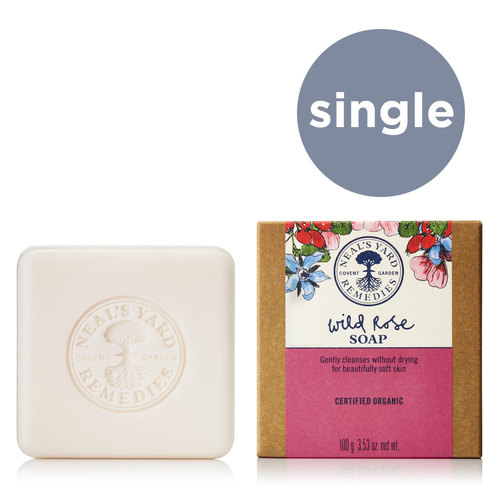 Wild Rose Soap 100g 2021, Neal's Yard Remedies